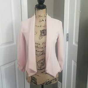 Pink Casual Blazer